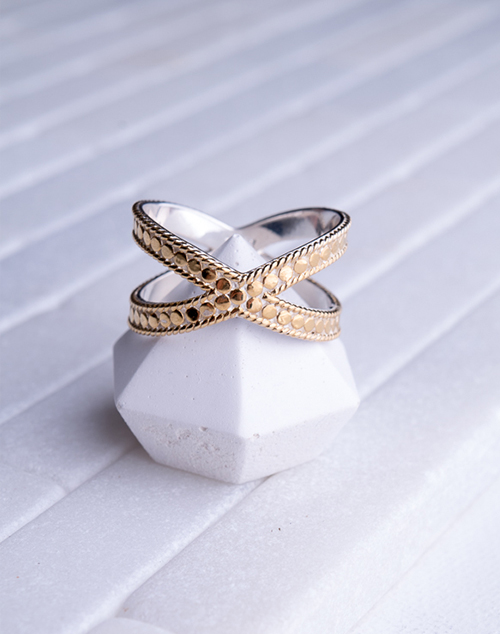 Anna Beck Cross Ring-Gold