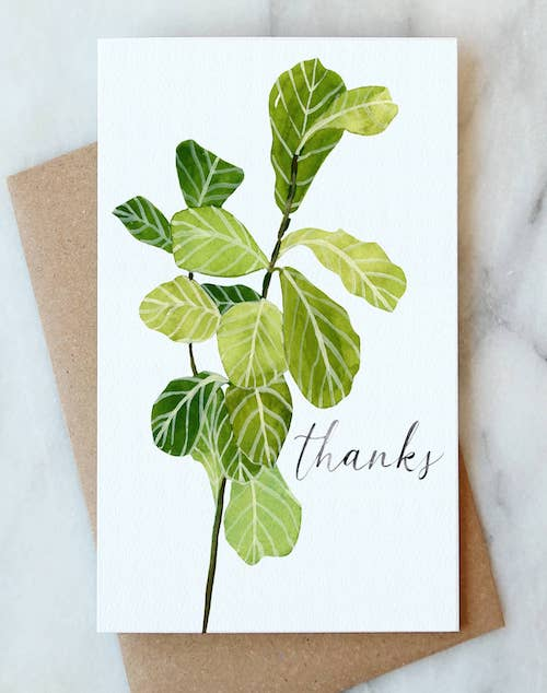 Fiddle Leaf Thanks Card