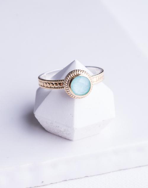 """""""Abundance"""" Turquoise Single Stone Stack Ring"""