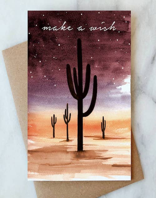 Desert Sky Make a Wish Card