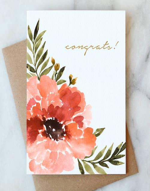 Anemone Congrats Card