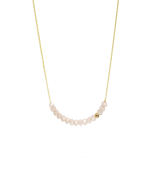 Mini Beads White Necklace