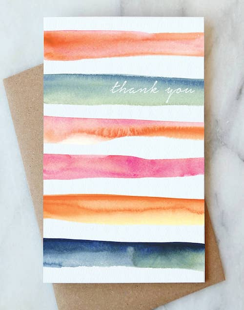 Stripe Thank You Card