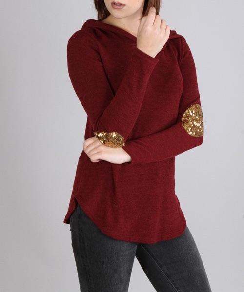Aubrey hoodie (Burgundy)